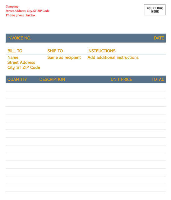 Timeless Invoice Template