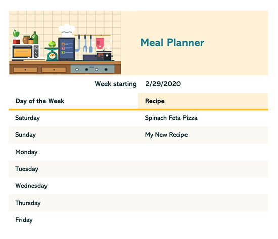 Weekly Dinner Menu Template Word from www.wordtemplatesonline.net