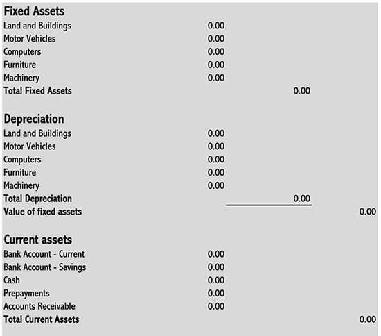 simple balance sheet format 06