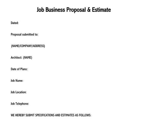 business proposal template word doc free download