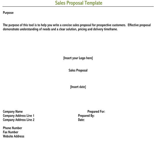 business proposal sample pdf