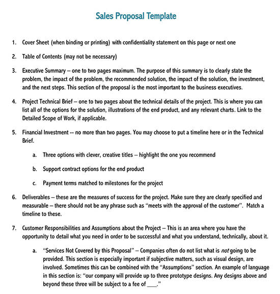sample of written business proposals pdf