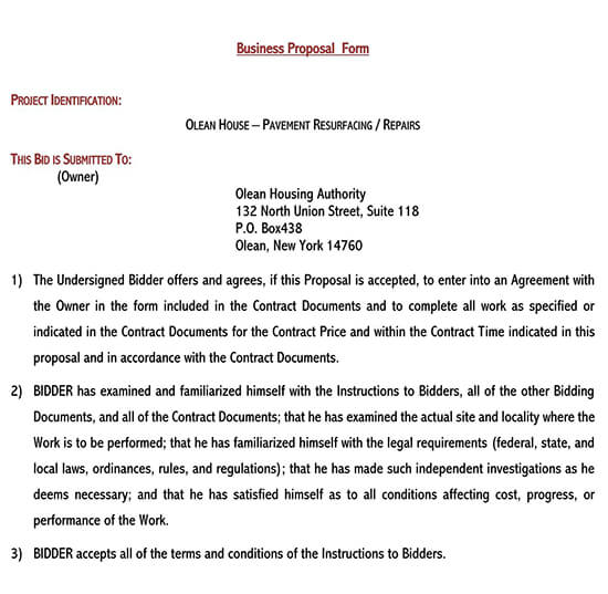 business proposal format sample 01