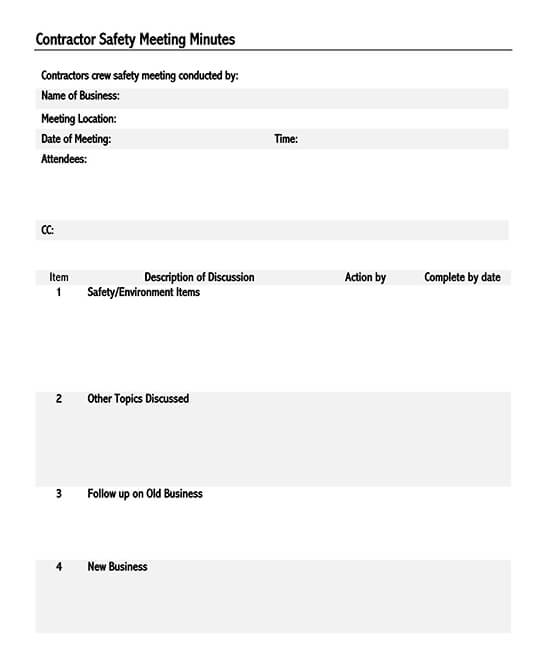 meeting notes template pdf