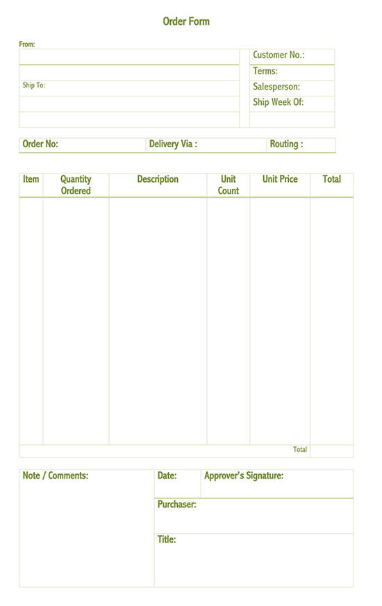 20 Free Purchase Order Po Templates Word Excel