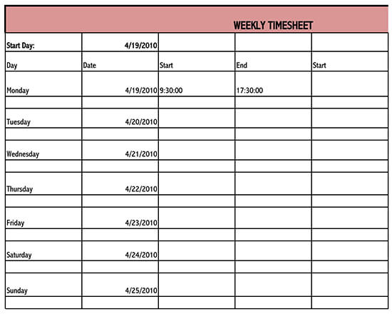 daily timesheet template 03