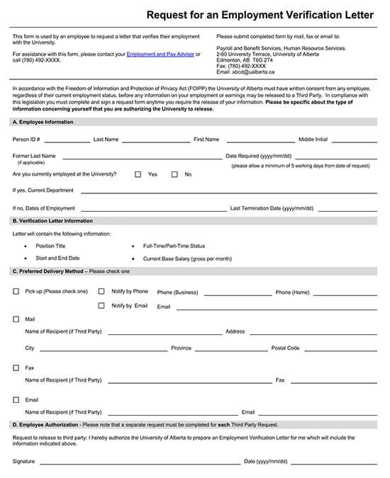 Employee Income Verification Letter 04