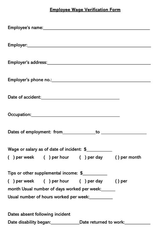 Employee Income Verification Letter 07