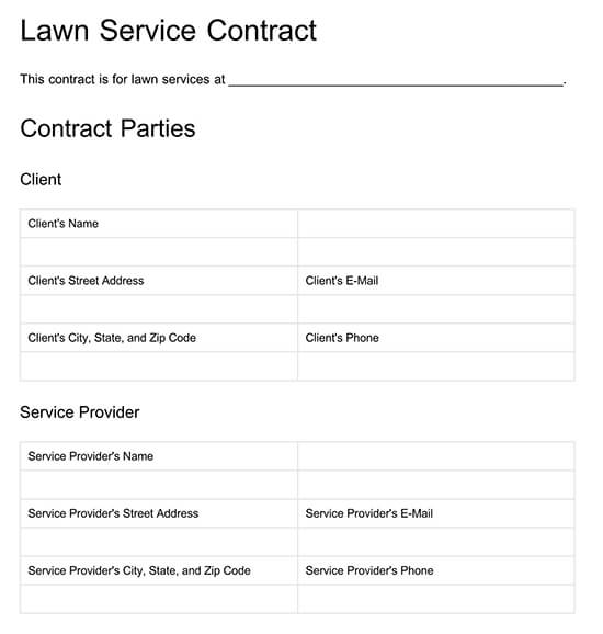 free lawn care templates