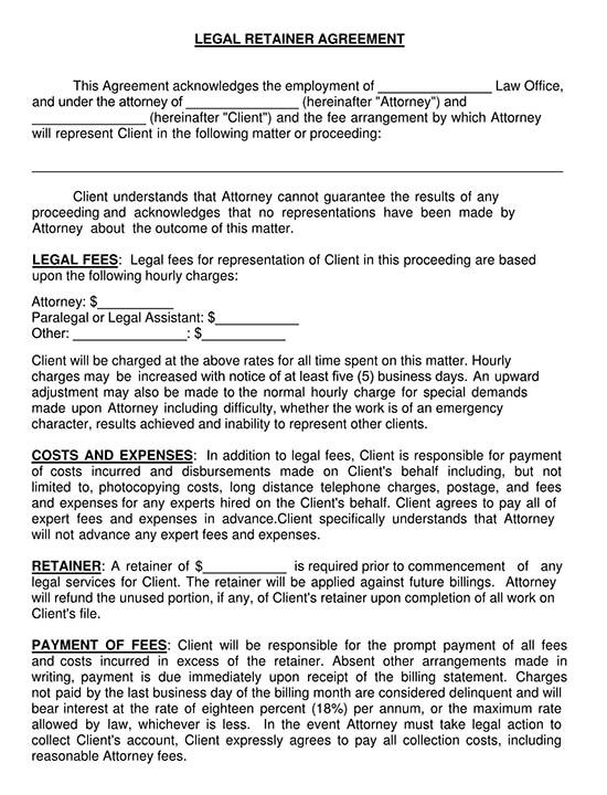 printable service agreement