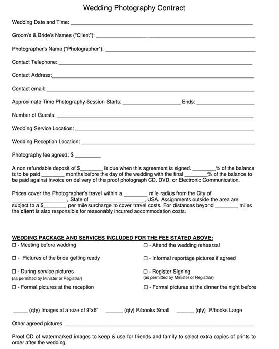 Wedding Photography Contract Template from www.wordtemplatesonline.net