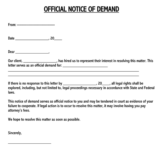 how to respond to a demand letter?