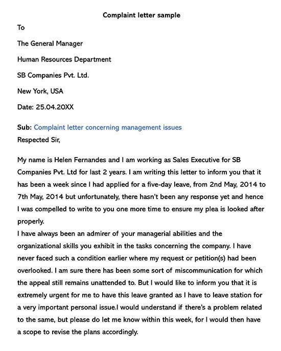 Employee Complaint Form Template 02