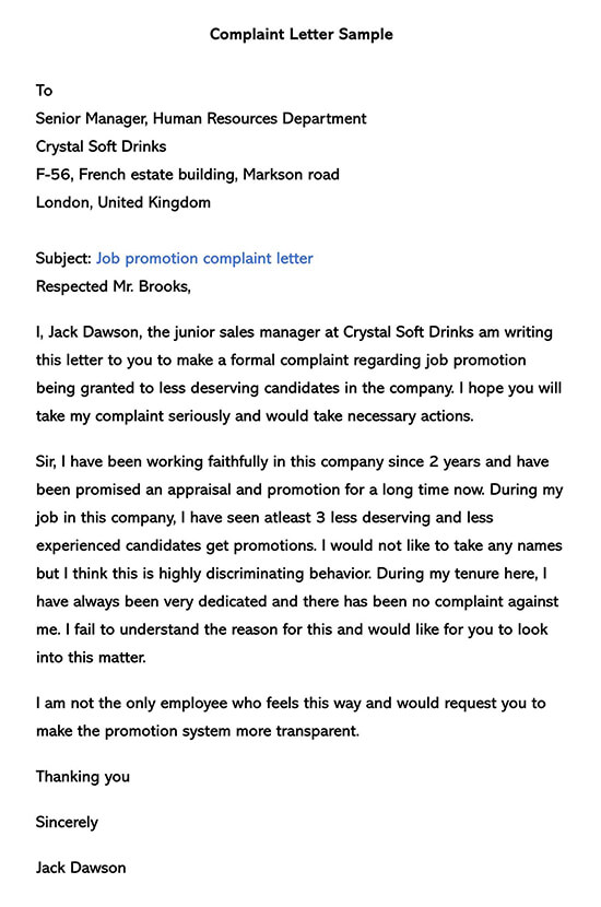 Employee Complaint Form Template 03