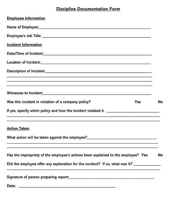Employee Disciplinary Action Form 04