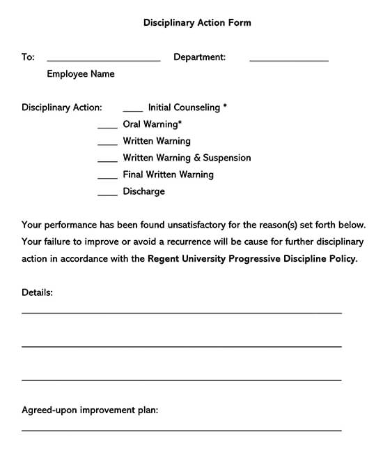Employee Initial Counseling Form