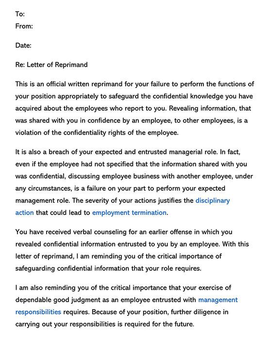 Employee Reprimand Form 01