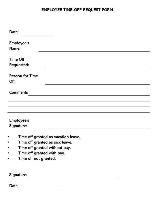Employee Time-Off Request Form 01