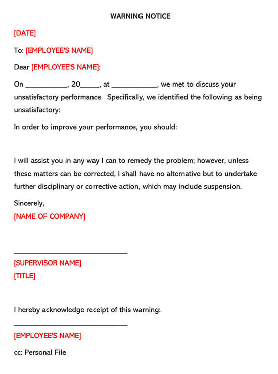 Employee Warning Form 02