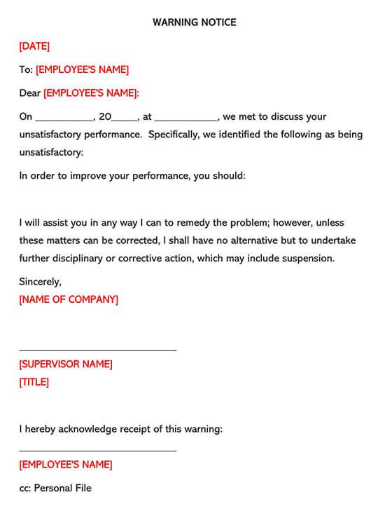 Employee Warning Form 02