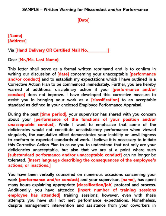 Employee Warning Form 04