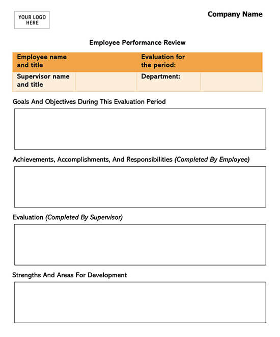 Essay Employee Evaluation Template