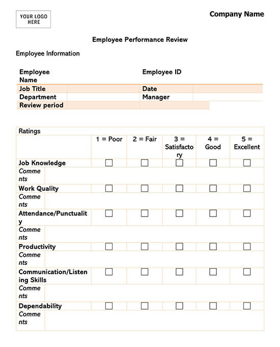 General Performance Evaluation Template