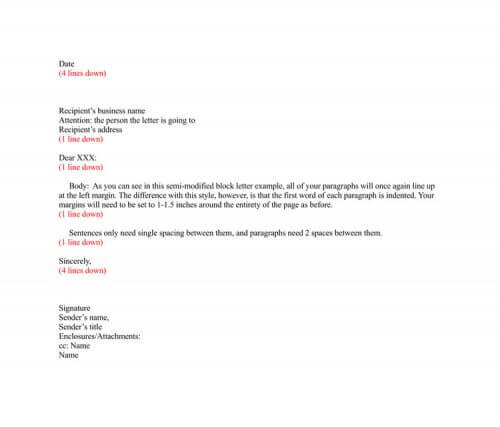 Business Letter (Modified Semi-block Format)