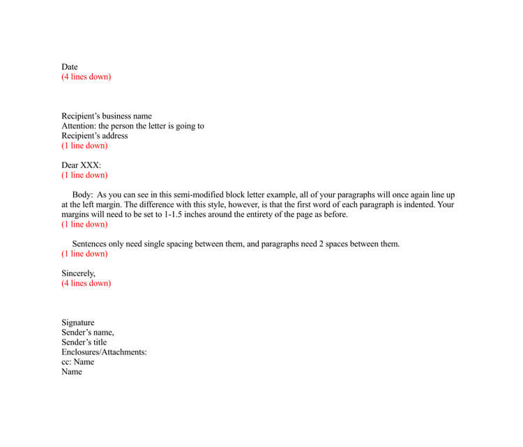 Business Letter Format Spacing from www.wordtemplatesonline.net