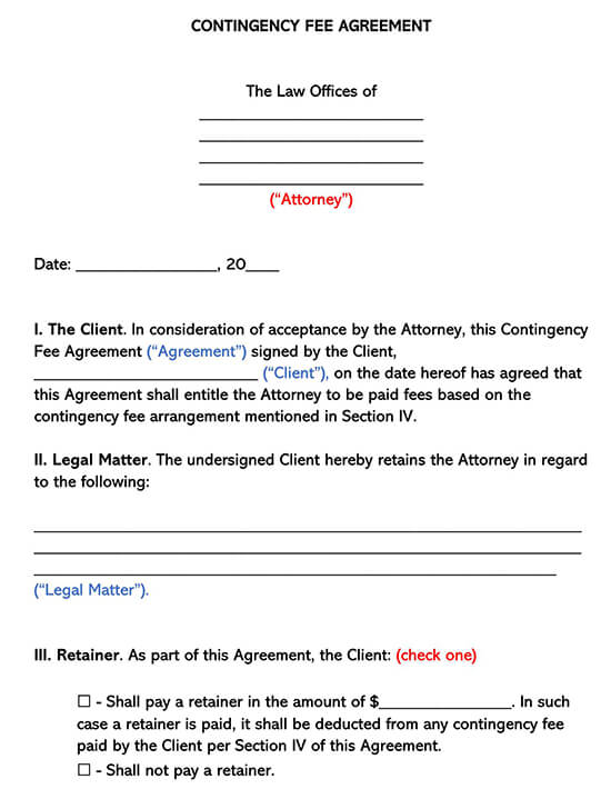 Contingency Fee Agreement
