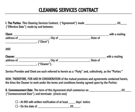 simple professional services agreement, template
