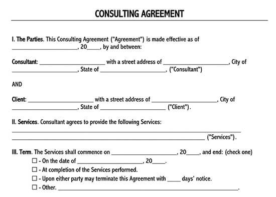 business services contract template