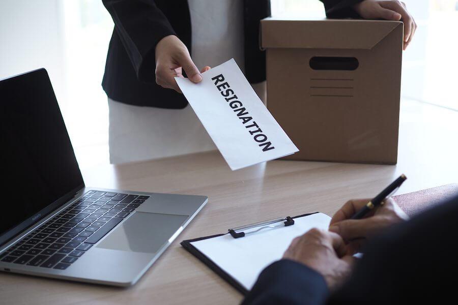 Professional resignation