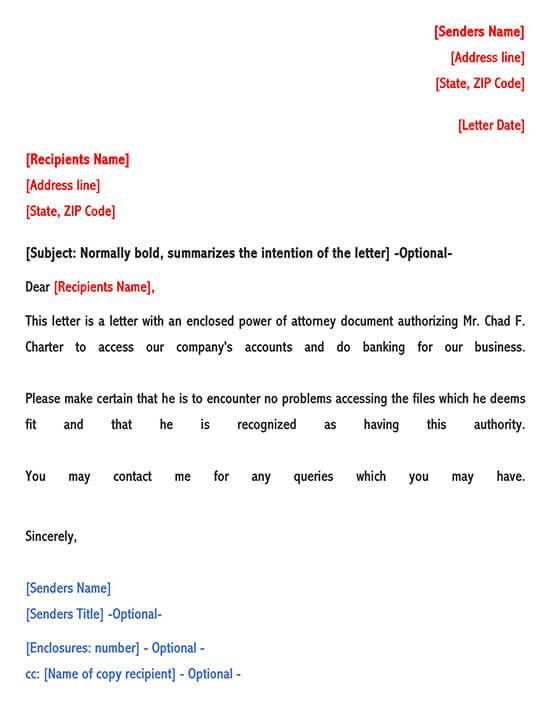 Exemple de lettre d'autorisation de procuration