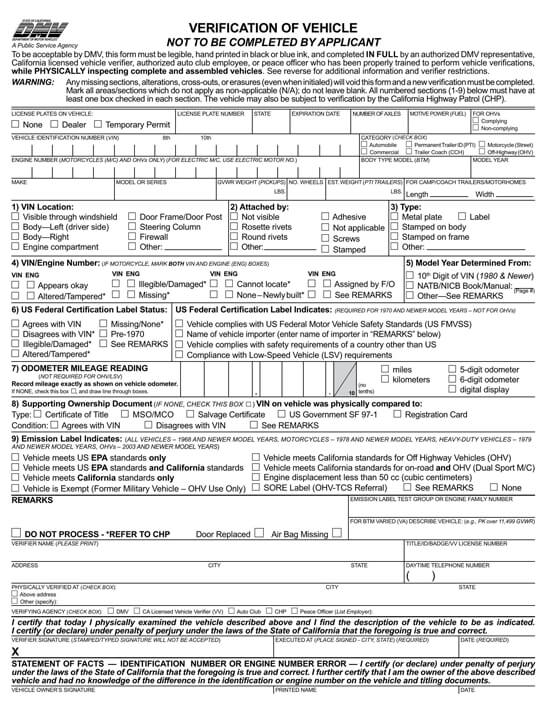 California – Form REG-31