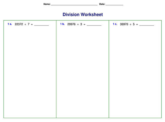 Division Problem with Five-digit Division