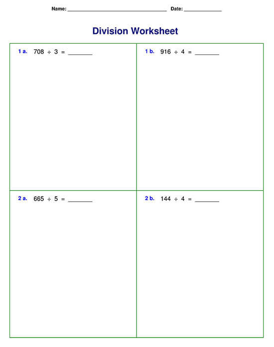 Division Problem with Four-digit Division
