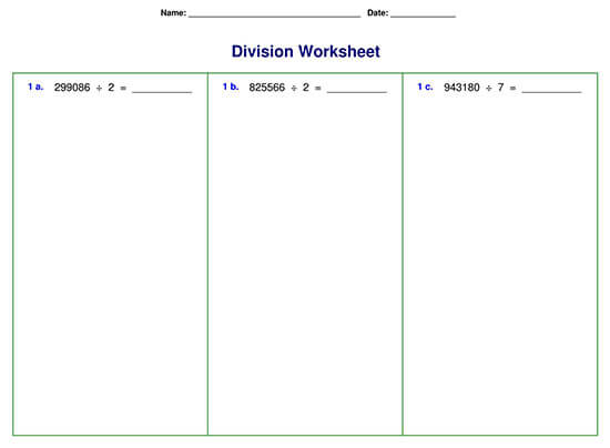 Division Problem with Six-digit Division
