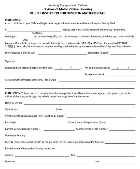 Kentucky – Form TC 96‐229