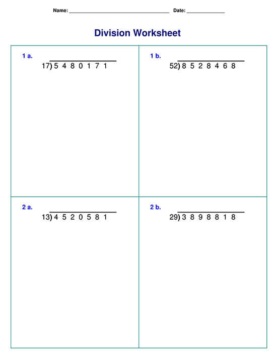 Long Division with Two-Digit Divisor Sample 04