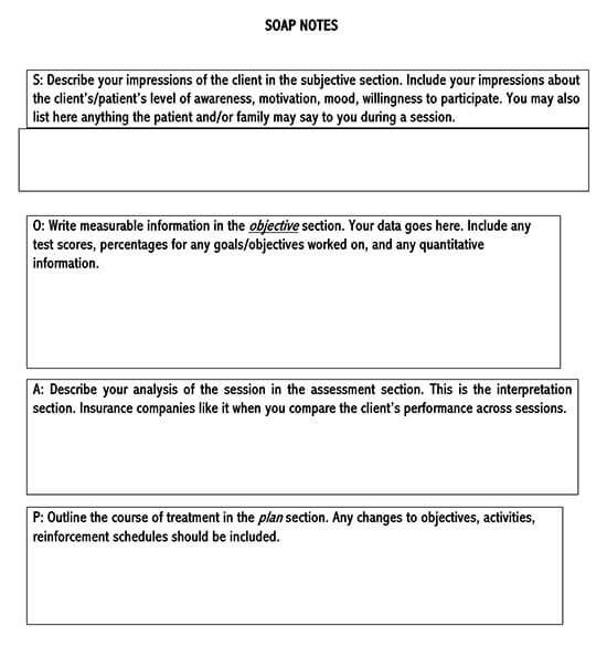 SOAP Note Example Template 10