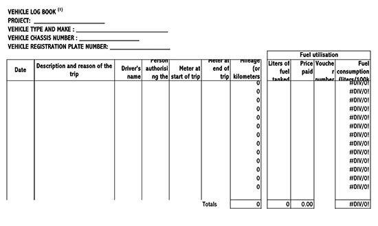 Vehicle Maintenance Log Service Excel Sheet 05