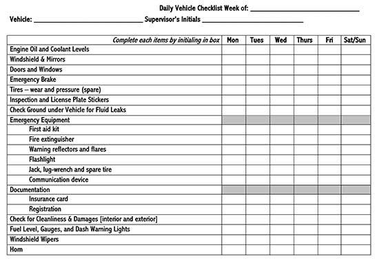 Vehicle Maintenance Log Service Word Sheet 21