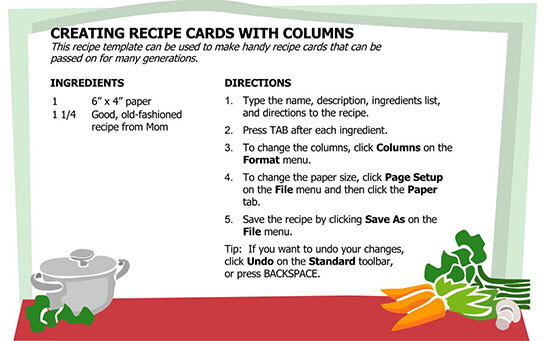 Cookbook Word Note Template 04
