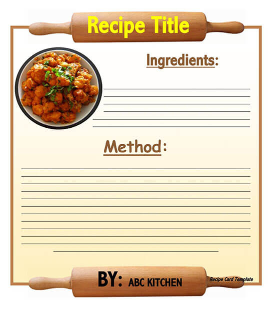 Cookbook Word Note Template 06
