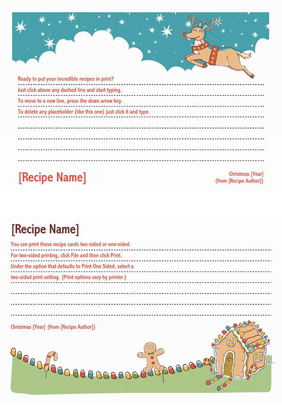 Cookbook Word Note Template 07