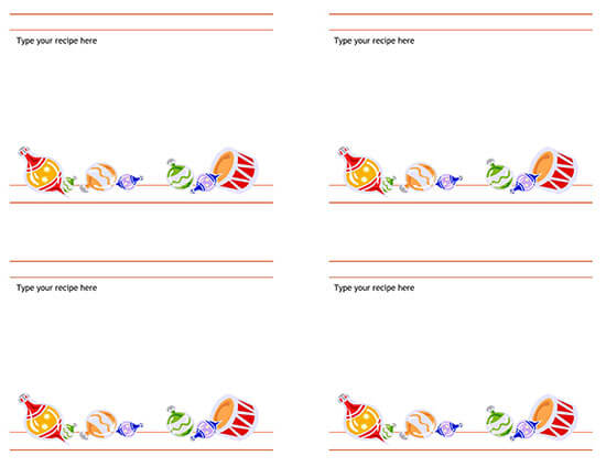Cookbook Word Note Template 09