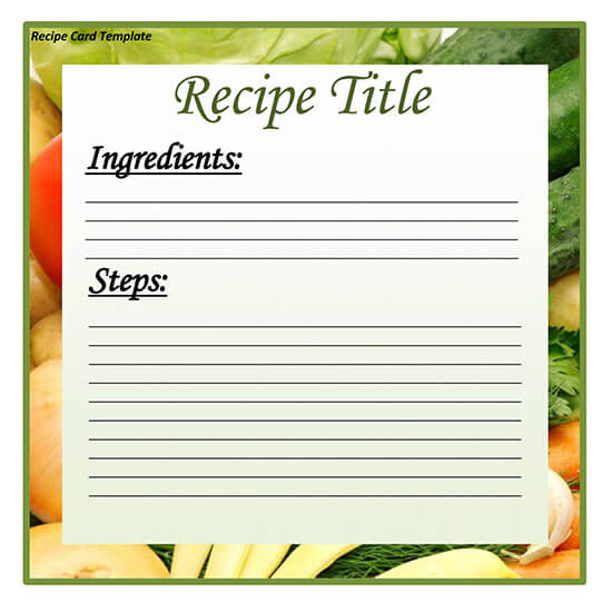 Cookbook Word Note Template 10
