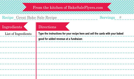 Cookbook Word Note Template 11
