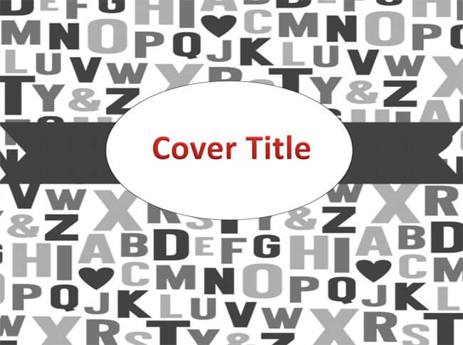 Binder Cover PowerPoint Template 09